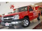 2003 Victory Red Chevrolet Silverado 1500 Regular Cab #20910937