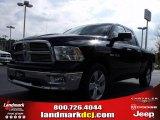 2010 Brilliant Black Crystal Pearl Dodge Ram 1500 Big Horn Quad Cab #20911685