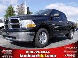 2010 Brilliant Black Crystal Pearl Dodge Ram 1500 SLT Crew Cab #20911686