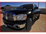 2008 Brilliant Black Crystal Pearl Dodge Ram 1500 SLT Quad Cab 4x4 #2089877