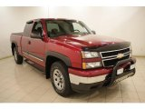 2006 Sport Red Metallic Chevrolet Silverado 1500 LS Extended Cab 4x4 #20921982