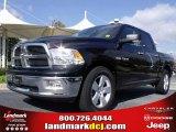 2009 Brilliant Black Crystal Pearl Dodge Ram 1500 Big Horn Edition Crew Cab #20911665