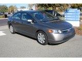 2007 Galaxy Gray Metallic Honda Civic LX Sedan #20960164