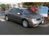2007 Galaxy Gray Metallic Honda Civic LX Coupe #20960150