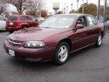 2001 Dark Carmine Red Metallic Chevrolet Impala LS #20987376