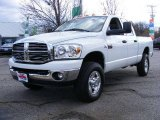 2008 Bright White Dodge Ram 3500 Big Horn Edition Quad Cab 4x4 #20988418