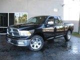 2010 Brilliant Black Crystal Pearl Dodge Ram 1500 Laramie Crew Cab #20991027