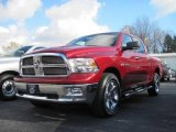 2010 Inferno Red Crystal Pearl Dodge Ram 1500 Big Horn Crew Cab 4x4 #21006881