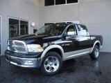 2009 Brilliant Black Crystal Pearl Dodge Ram 1500 Laramie Crew Cab 4x4 #20991013