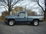 2007 Blue Granite Metallic Chevrolet Silverado 1500 Classic Work Truck Regular Cab 4x4 #21065751