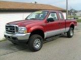 2003 Toreador Red Metallic Ford F250 Super Duty XLT SuperCab 4x4 #21066005