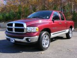 2003 Dark Garnet Red Pearl Dodge Ram 1500 SLT Quad Cab 4x4 #21073061