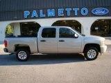 2008 Silver Birch Metallic Chevrolet Silverado 1500 LS Crew Cab #21068061