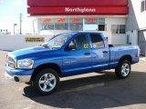 2007 Electric Blue Pearl Dodge Ram 1500 SLT Quad Cab 4x4 #21059355