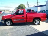 2003 Victory Red Chevrolet Silverado 1500 LS Regular Cab #21131374