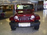 2010 Red Rock Crystal Pearl Jeep Wrangler Sahara 4x4 #21136840