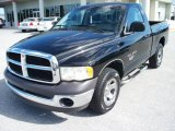 Black Dodge Ram 1500 in 2002