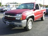 2004 Sport Red Metallic Chevrolet Silverado 1500 Z71 Regular Cab 4x4 #21212256