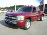2009 Deep Ruby Red Metallic Chevrolet Silverado 1500 LT Z71 Crew Cab 4x4 #21212240
