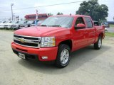 2009 Victory Red Chevrolet Silverado 1500 LTZ Crew Cab 4x4 #21212215