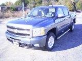 2009 Blue Granite Metallic Chevrolet Silverado 1500 LTZ Crew Cab 4x4 #21212231