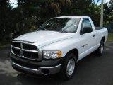 2005 Bright White Dodge Ram 1500 ST Regular Cab #21228905