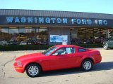2005 Torch Red Ford Mustang V6 Deluxe Coupe #21237333