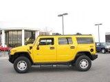 2003 Yellow Hummer H2 SUV #21240544