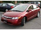 2007 Tango Red Pearl Honda Civic EX Sedan #21228611