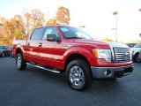 2010 Vermillion Red Ford F150 XLT SuperCrew 4x4 #21233136
