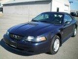 2001 True Blue Metallic Ford Mustang V6 Convertible #21292082