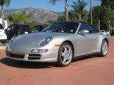 2008 Arctic Silver Metallic Porsche 911 Carrera 4 Cabriolet #21372561
