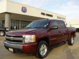 2008 Deep Ruby Metallic Chevrolet Silverado 1500 Z71 Crew Cab 4x4 #21375024