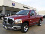 2006 Inferno Red Crystal Pearl Dodge Ram 1500 ST Regular Cab #21375019