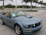 2007 Windveil Blue Metallic Ford Mustang GT Premium Convertible #21366892