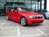 2006 Electric Red BMW 3 Series 330i Convertible #21378945