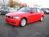 2007 Crimson Red BMW 3 Series 328i Sedan #21375683