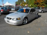 2002 Satin Silver Metallic Ford Mustang V6 Coupe #21370526