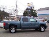 2009 Blue Granite Metallic Chevrolet Silverado 1500 LT Crew Cab 4x4 #21371833
