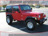 2006 Flame Red Jeep Wrangler X 4x4 #21390970