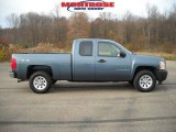 2007 Blue Granite Metallic Chevrolet Silverado 1500 Work Truck Extended Cab 4x4 #21461098