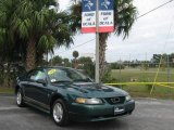 2000 Amazon Green Metallic Ford Mustang V6 Coupe #21451003
