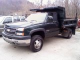2005 Dark Green Metallic Chevrolet Silverado 3500 Regular Cab 4x4 Chassis #21444850