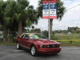 2007 Redfire Metallic Ford Mustang V6 Premium Convertible #21451006