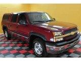 2004 Sport Red Metallic Chevrolet Silverado 1500 LS Crew Cab 4x4 #21513567