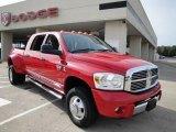 2007 Flame Red Dodge Ram 3500 Laramie Mega Cab 4x4 Dually #21514536
