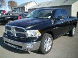 2010 Brilliant Black Crystal Pearl Dodge Ram 1500 Big Horn Quad Cab 4x4 #21502287