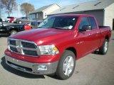 2010 Inferno Red Crystal Pearl Dodge Ram 1500 Big Horn Quad Cab 4x4 #21502289