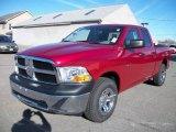 2010 Inferno Red Crystal Pearl Dodge Ram 1500 ST Quad Cab 4x4 #21502298