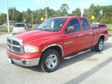 2005 Flame Red Dodge Ram 1500 SLT Quad Cab #21465180